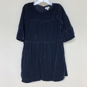 NWT GYMBOREE Holiday Navy Blue Velvet Dress